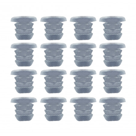Set of 300 rubber caps, buffers, door dampers (type 1, transparent, 5 mm)  - 1