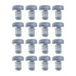 Zestaw 150 gumowych zaślepek, zderzaków, amortyzatorów drzwi (typ 2, przezroczysty, 5 mm)  - 1