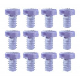 Set van 90 rubberen dopjes, buffers, deurdempers (type 3, transparant, 9 mm)  - 1
