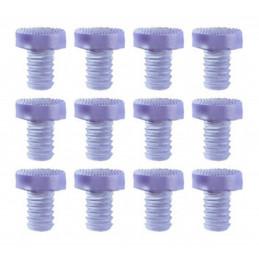 Zestaw 90 gumowych zaślepek, odbojników, amortyzatorów drzwi (typ 3, przezroczysty, 9 mm)  - 1