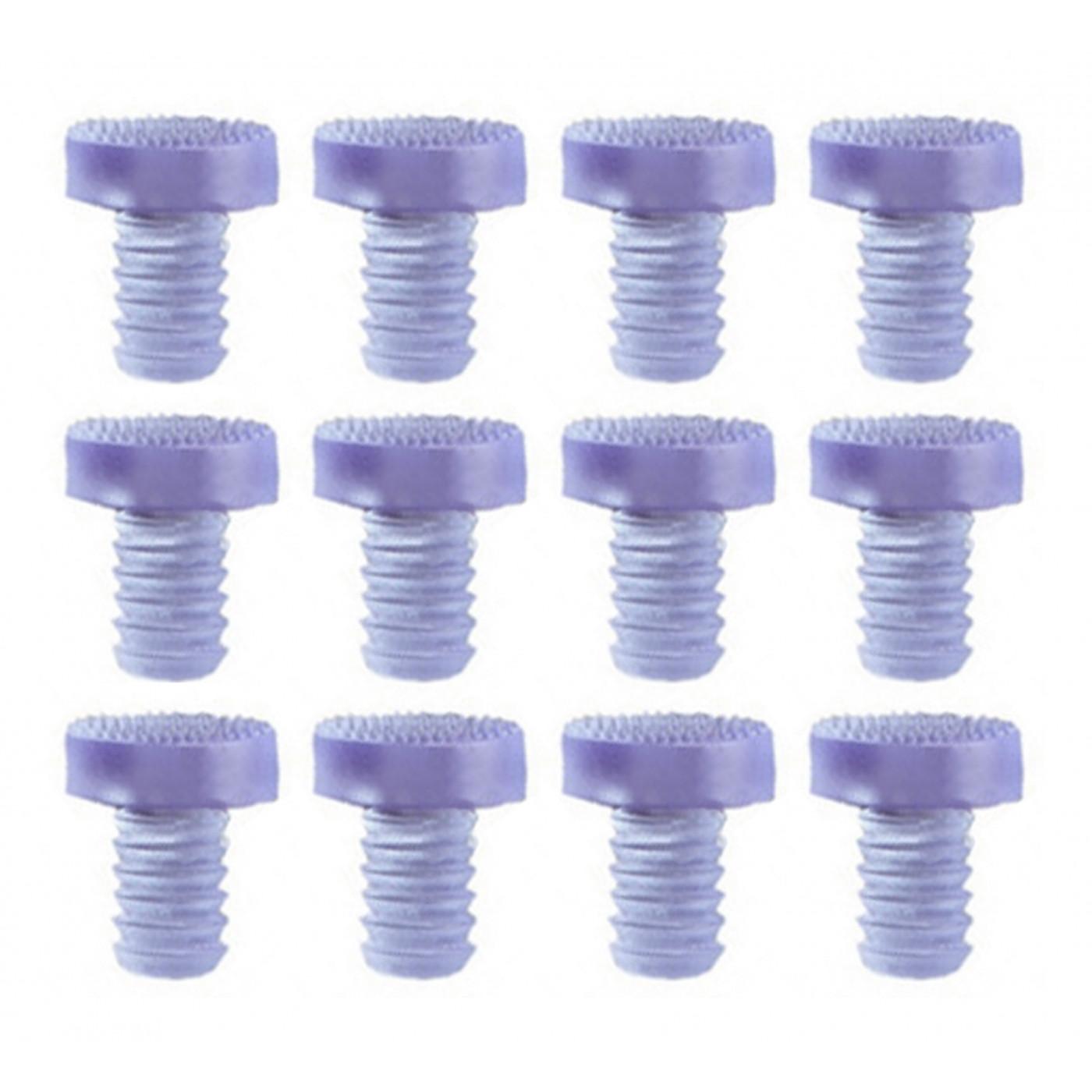 Set of 90 pvc caps, buffers, door dampers (type 3, transparent