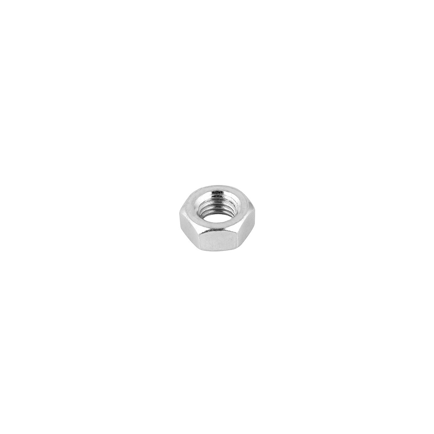 Set of 40 hexagon nuts (M4, galvanized steel, DIN 934)