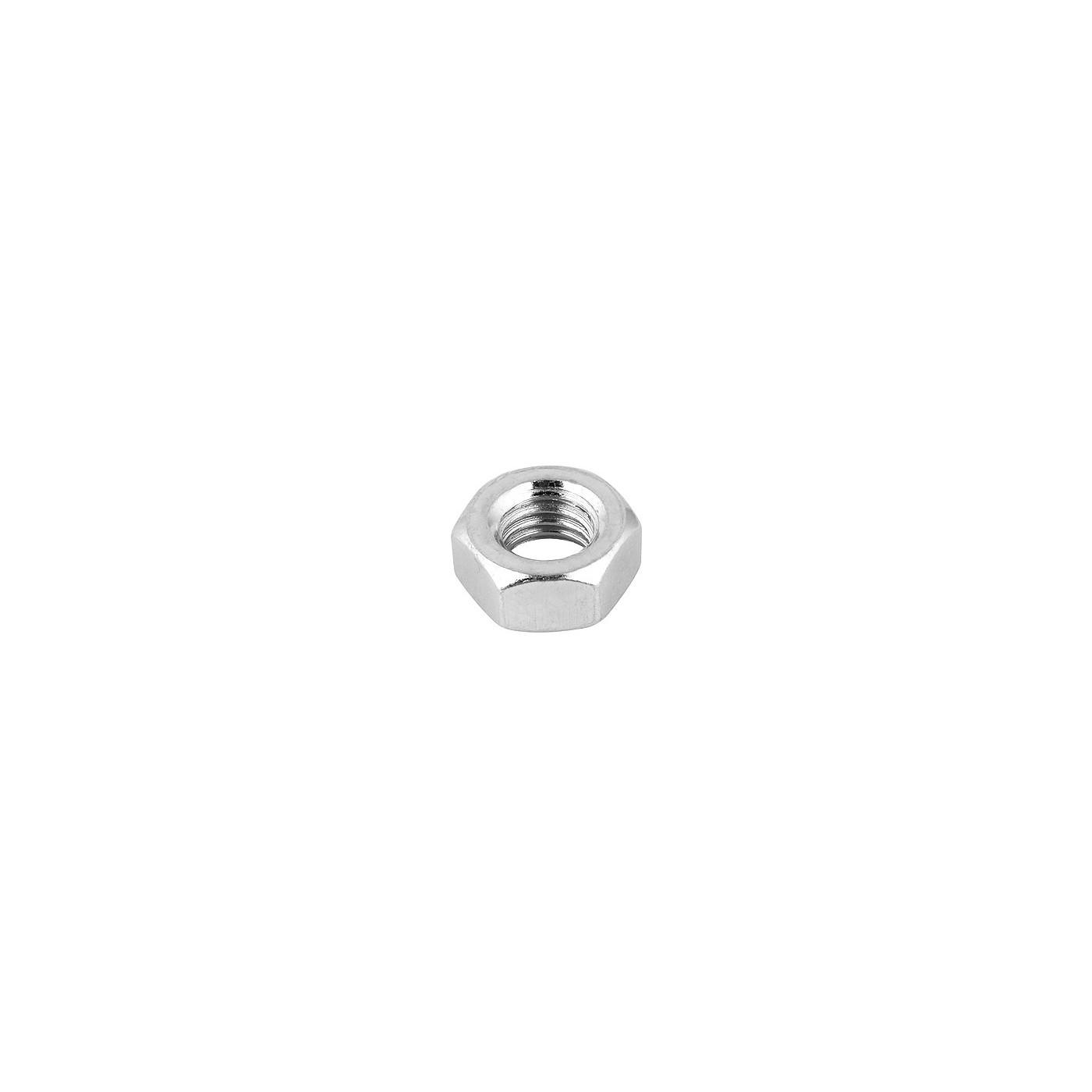 Set of 40 hexagon nuts (M6, galvanized steel, DIN 934)