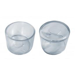Set von 32 silikonkappen (Außenkappe, rund, 50 mm, transparent) [O-RO-50-T]  - 1