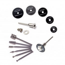 Set mini (dremel) milling cutters & saw blades  - 1