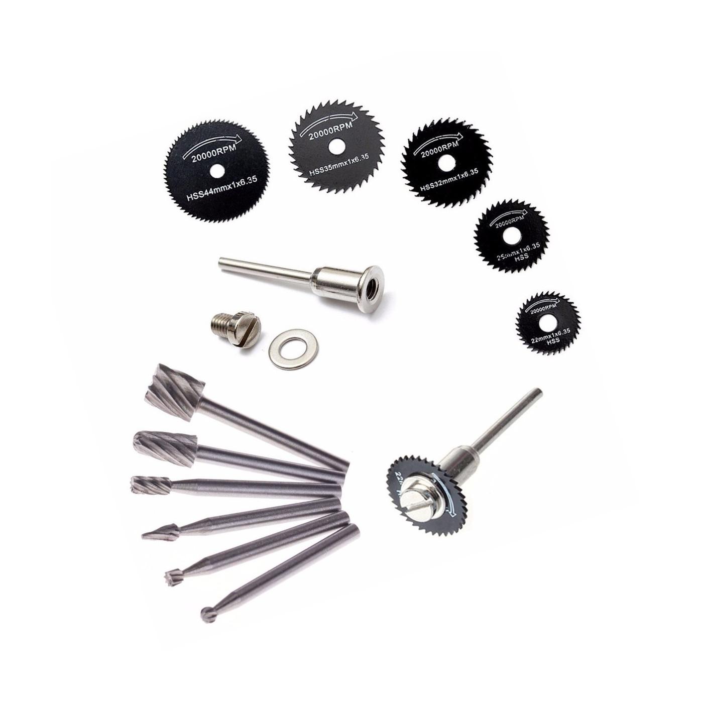 Set mini (dremel) milling cutters & saw blades