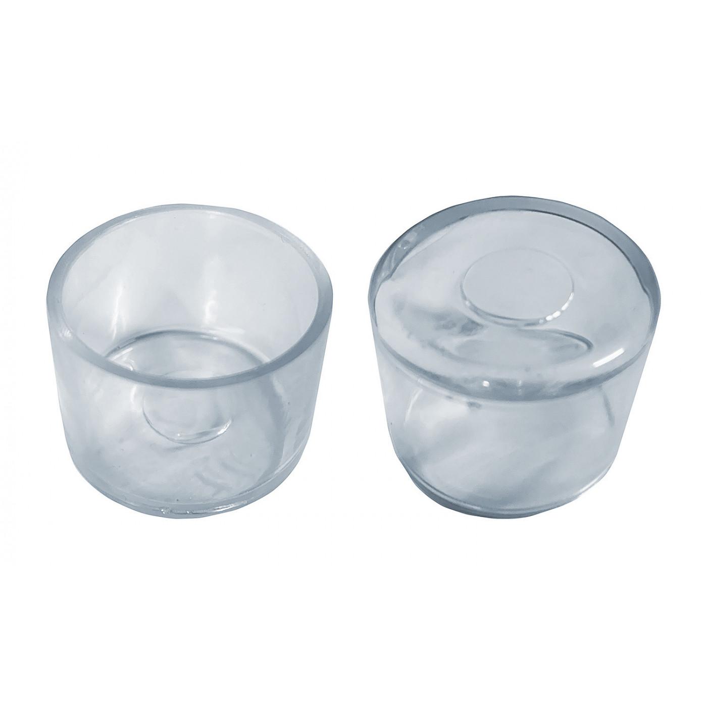 Set von 32 silikonkappen (Außenkappe, rund, 40 mm, transparent) [O-RO-40-T]  - 1