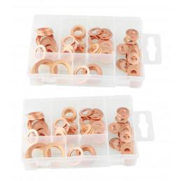 Conjunto de 160 anéis de vedação de cobre  - 1