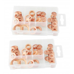 Set of 160 copper sealing rings  - 1