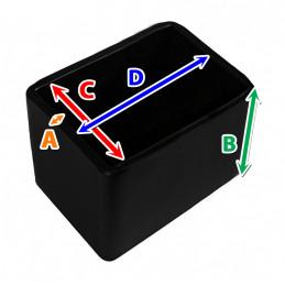 Set von 32 silikonkappen (Außenkappe, Rechteck, 20x30 mm, schwarz) [O-RA-20x30-B]  - 2