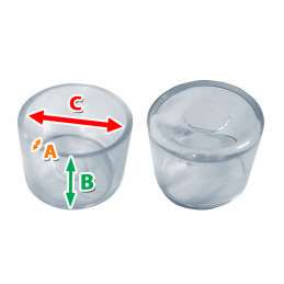 Set von 32 silikonkappen (Außenkappe, rund, 19 mm, transparent)