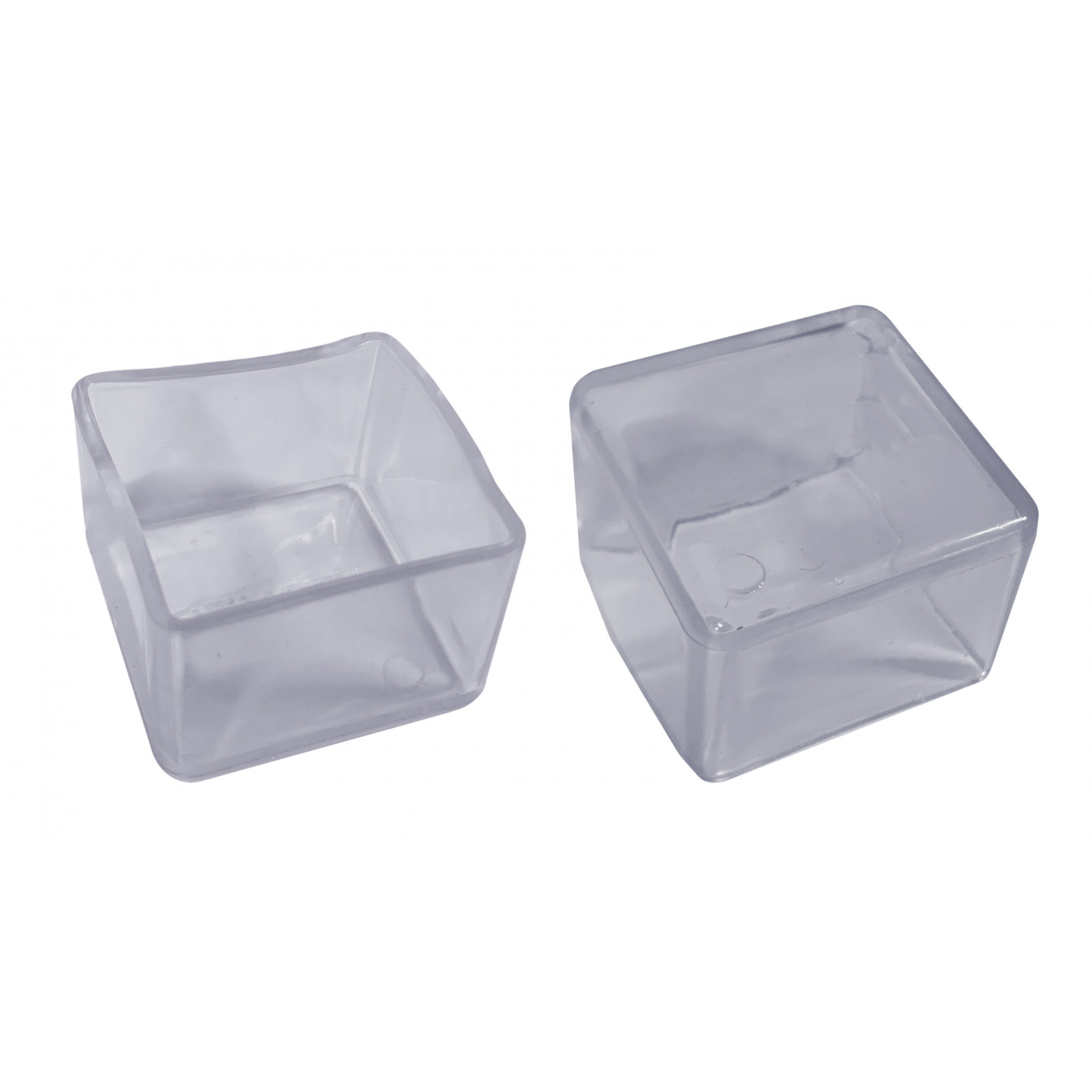 Set of 32 silicone chair leg caps (outside, square, 40 mm, transparent) [O-SQ-40-T]  - 1