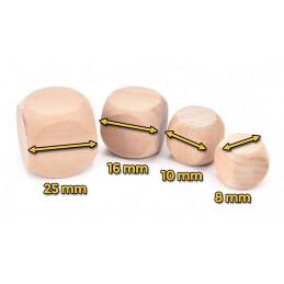 Set van 100 houten dobbelsteentjes, maat: medium (16 mm)  - 2