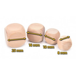 Set of 100 wooden cubes (dice), size: small (8 mm)  - 2