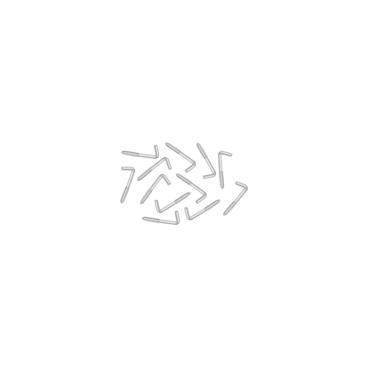 Lot de 96 crochets à vis en métal (longueur 3 cm)