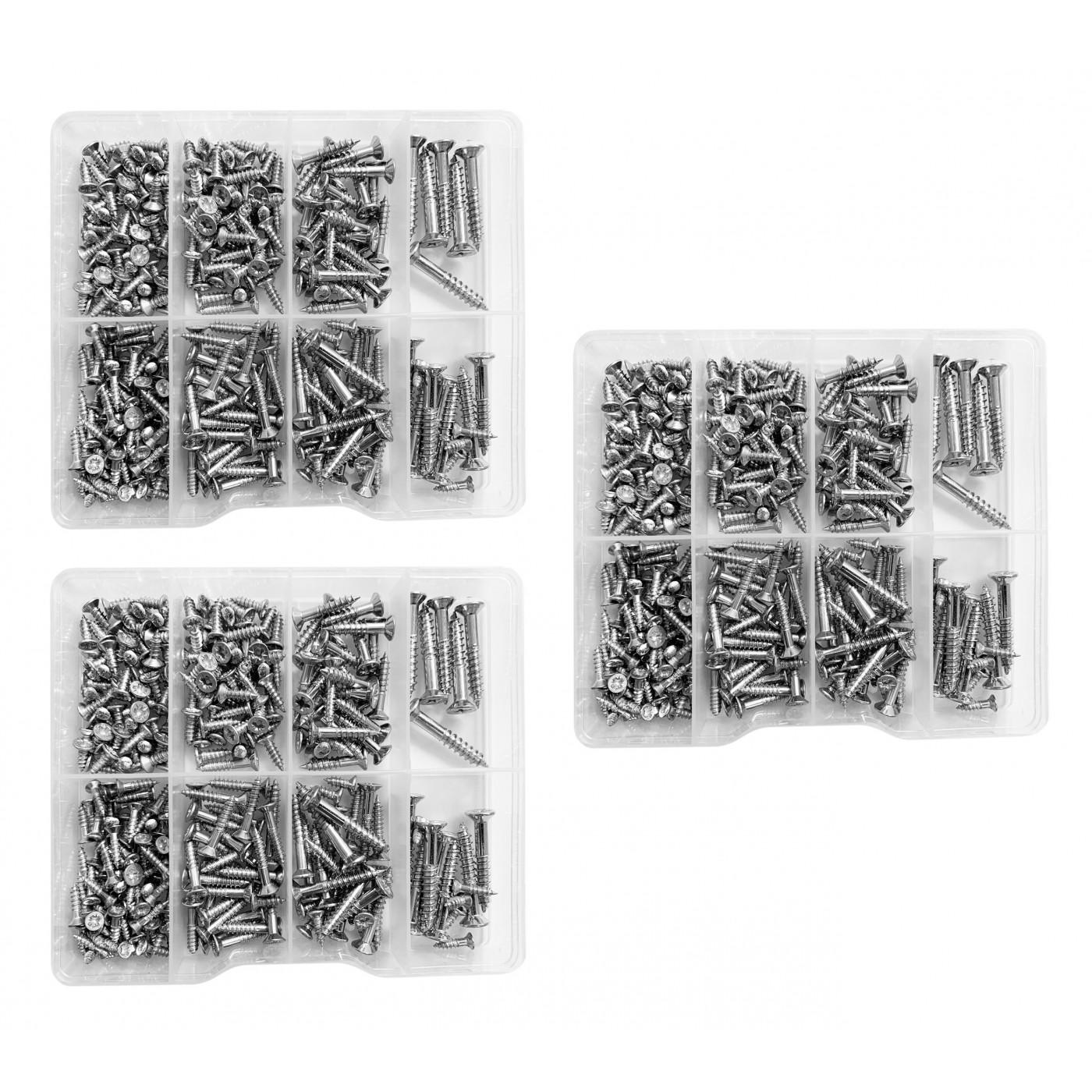 Set of 795 screws in plastic assortment boxes (2.8-5.0 mm)
