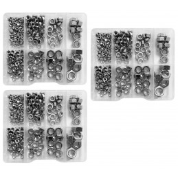 Set of 810 nuts in plastic assortment boxes (M3-M10)
