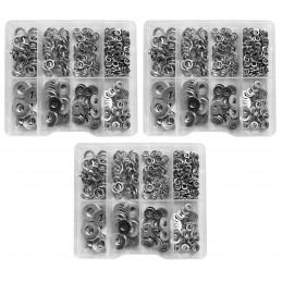 Set van 1125 ringen in kunststof assortimentsdoosjes  - 1