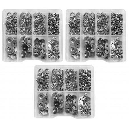 Set von 1125 Unterlegscheiben in Kunststoffsortimentboxen  - 1