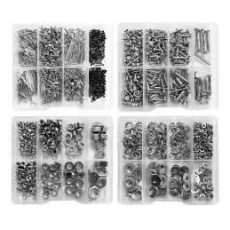 Duży zestaw łączników metalowych 2035 (śruby, gwoździe, podkładki, nakrętki)  - 1