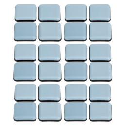 Conjunto de 24 protetores de piso de móveis anti-riscos (quadrados, 24 mm, PTFE)  - 1