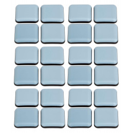 Set of 24 anti-scratch furniture floor protectors (square, 24