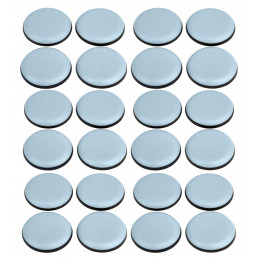 Set of 24 anti-scratch furniture floor protectors (round, 25 mm, PTFE)  - 1