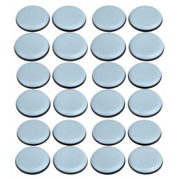 Set van 24 antikras meubelbeschermers (rond, 25 mm, PTFE)