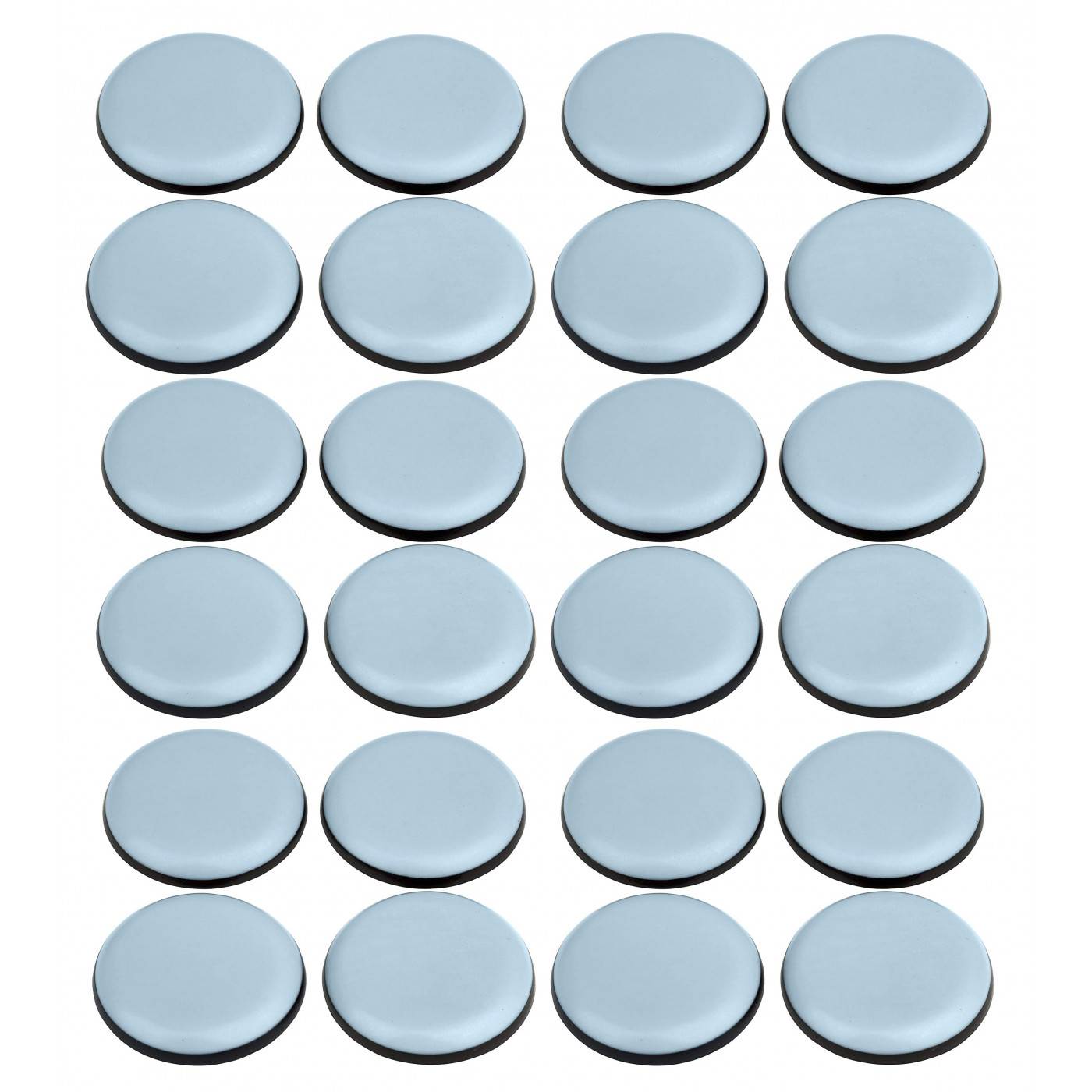 Lot de 24 protecteurs de sol anti-rayures pour meubles (ronds