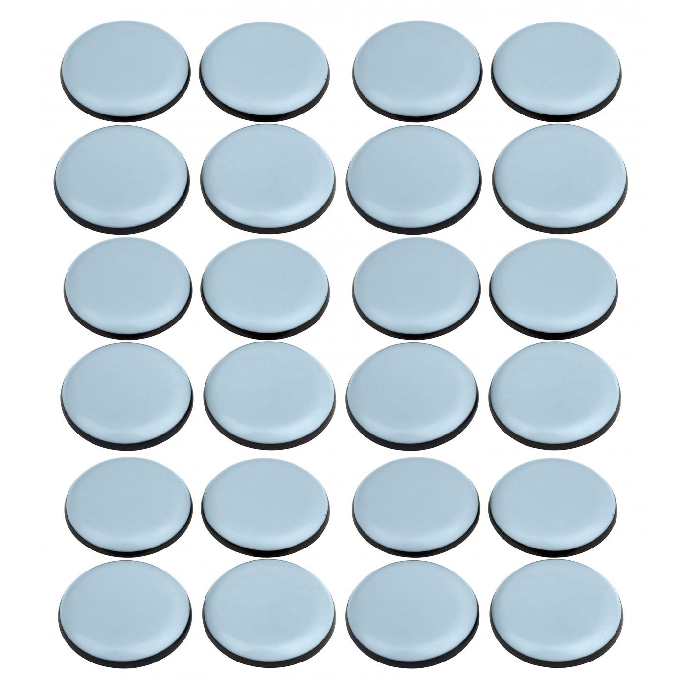 Set von 24 kratzfesten Möbelbodenschonern (rund, 25 mm, PTFE)