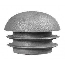 Set van 32 plastic stoelpootdoppen (intern, bolkop, rond, 25 mm, grijs) [I-RO-25-G-B]  - 1