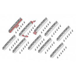 Zestaw 10 zawiasów długich (dł.6,5 cm, srebrne, rozwarcie max 90 stopni)  - 2