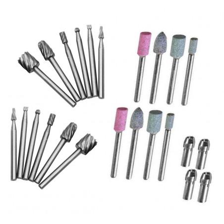 Set van 24 stuks micro (dremel/proxxon) frezen en slijpstenen