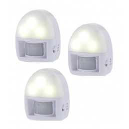 Set of 3 night lights with motion sensor (on batteries)  - 1