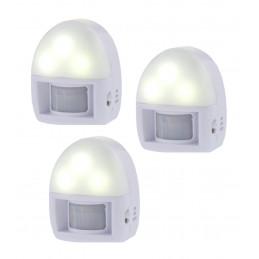 Zestaw 3 lampek nocnych z czujnikiem ruchu (na baterie)  - 1
