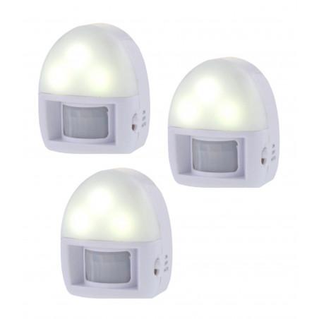 Lot de 3 veilleuses avec détecteur de mouvement (sur piles)  - 1