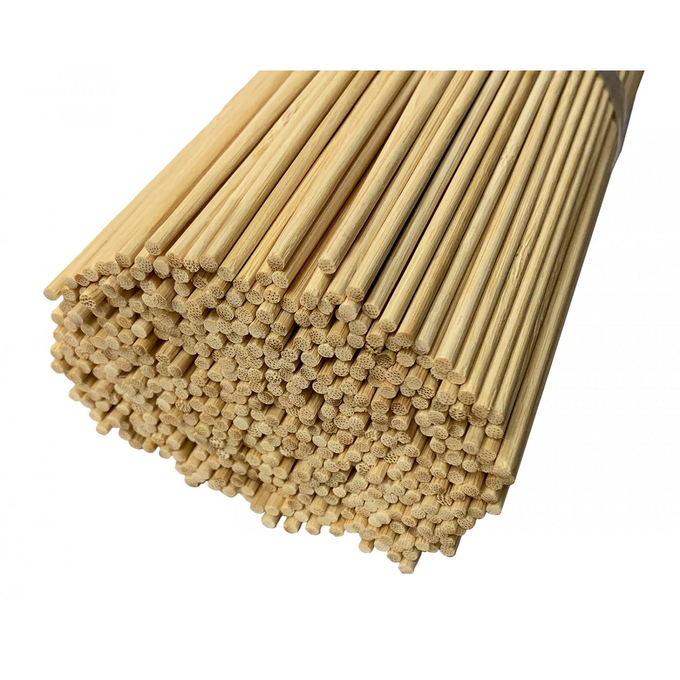 Set of 500 long bamboo sticks (3 mm x 50 cm)