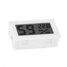 Medidor de temperatura y humedad interior LCD (blanco)  - 1