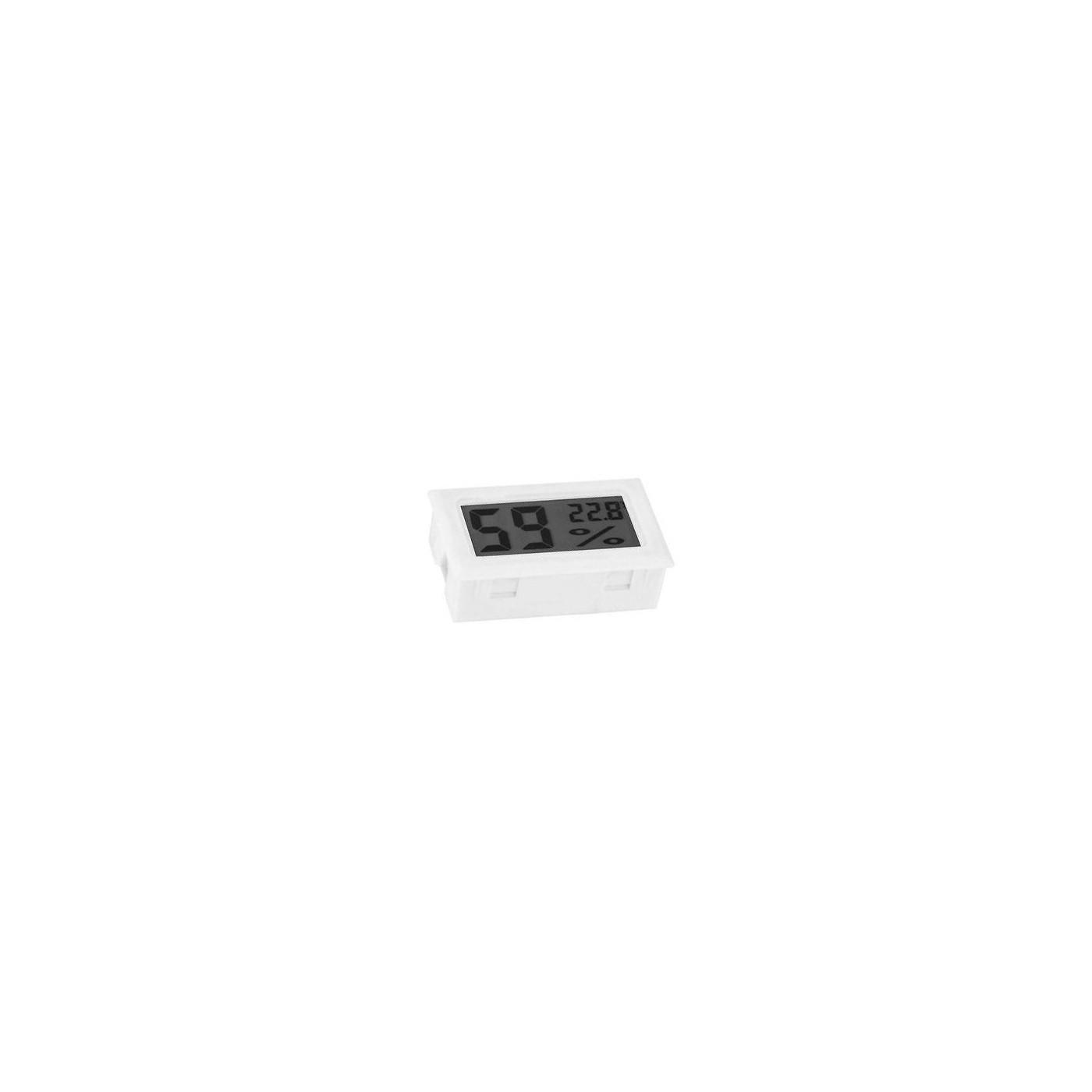 LCD mètre de température et d'humidité intérieure (blanc)