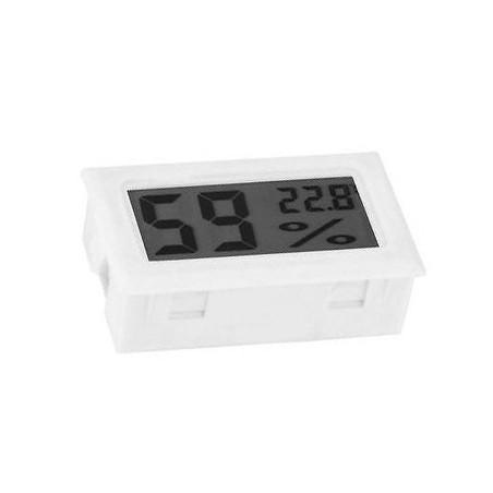 LCD-Innentemperatur- und Feuchtigkeitsmesser (weiß)