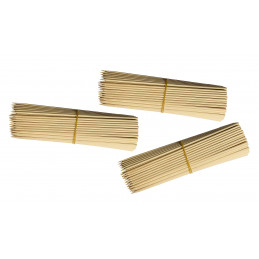 Set of 750 wooden sticks (3 mm x 18 cm, birch wood)