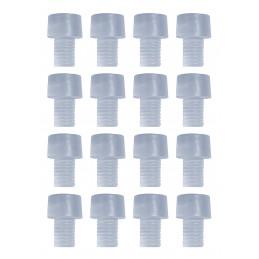 Conjunto de 150 tampas de borracha, tampões, amortecedores de porta (tipo 4, transparentes, 6 mm)  - 1