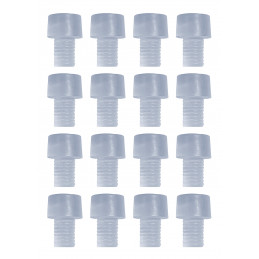 Conjunto de 150 tapas de goma, amortiguadores, amortiguadores de puerta (tipo 4, transparente, 6 mm)  - 1