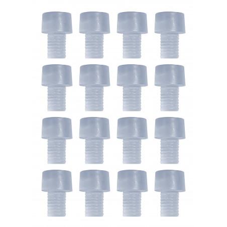 Set of 150 pvc caps, buffers, door dampers (type 4