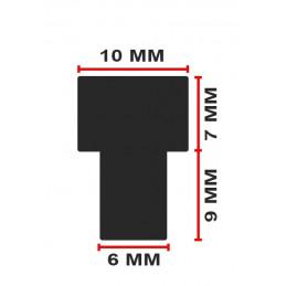 Set of 150 pvc caps, buffers, door dampers (type 4, black, 6 mm)