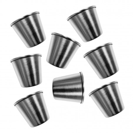 Set of 20 stainless steel cups, 44 ml