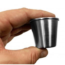 Ensemble de 20 tasses en acier inoxydable, 44 ml