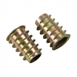 Set of 50 threaded inserts (screw-in nuts, M6x10 mm)