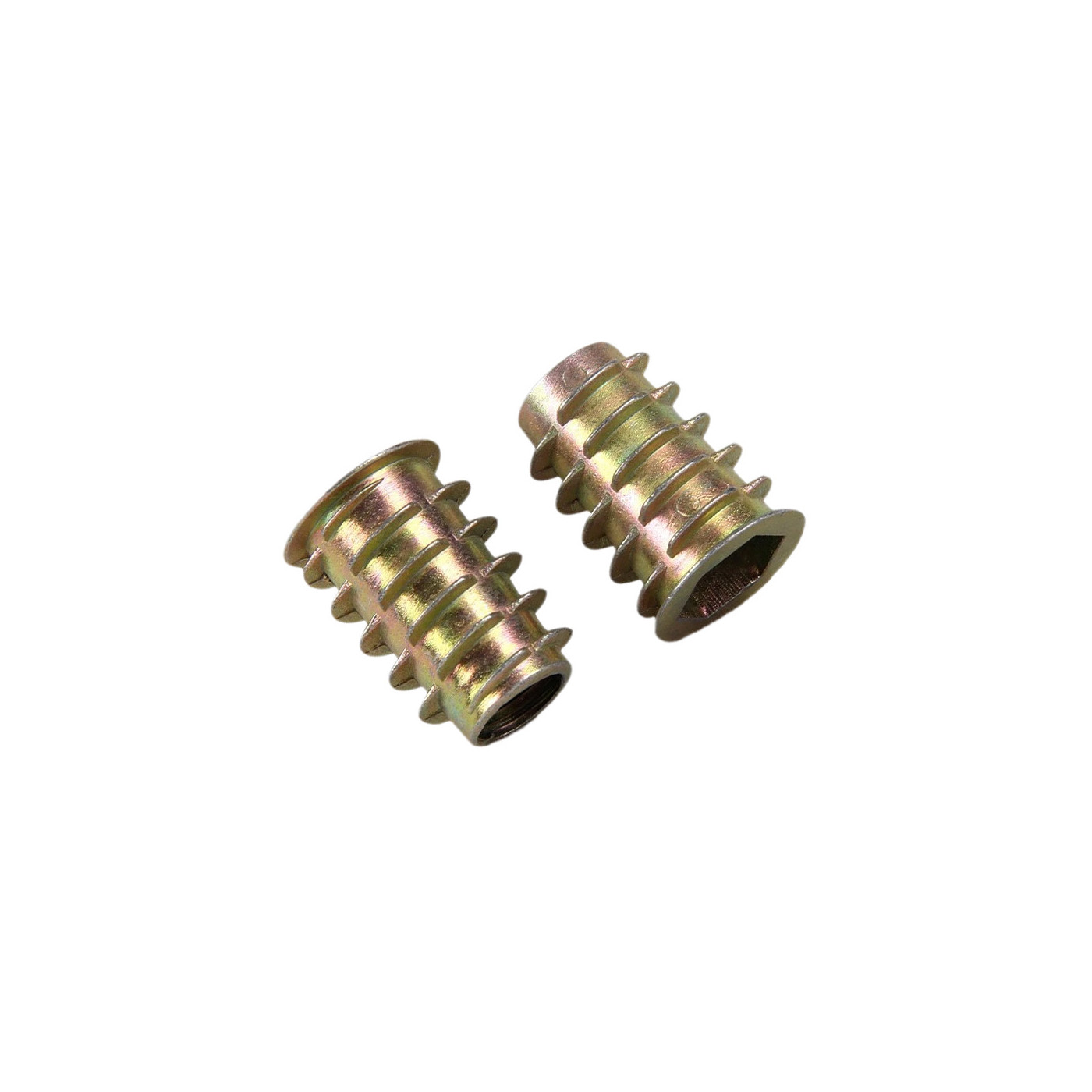 Set of 50 threaded inserts (screw-in nuts, M8x15 mm)