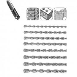 Zestaw bardzo długich wierteł do betonu SDS-plus (8 sztuk)  - 1